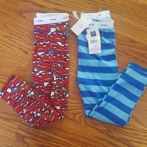 Baby Gap Disney Cars & Stripes PJ Pants Lot